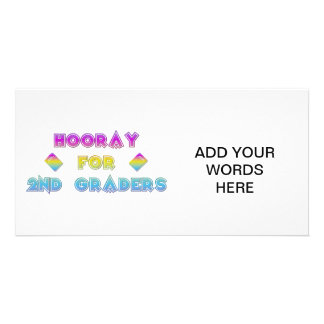 Hooray for 2nd Graders Photo Card Template