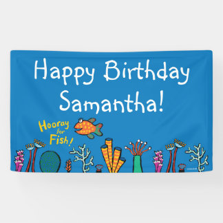 Hooray for Fish Birthday Banner