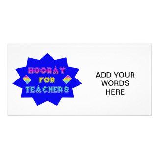 Hooray for teachers! photo greeting card