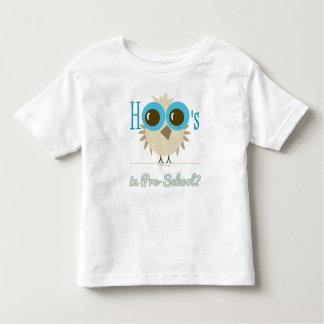 Hoo's in Pre-School? Cute Owl Design Toddler T-shirt