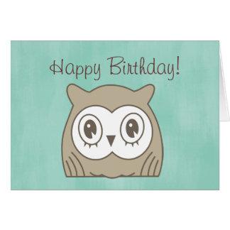 Hoot OWL Birthday Card