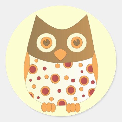 Hoot Owl Round Sticker