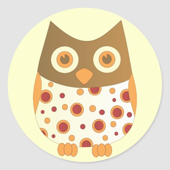 Hoot Owl Round Sticker