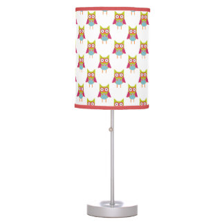 Hoot Owls Pattern Table Lamp