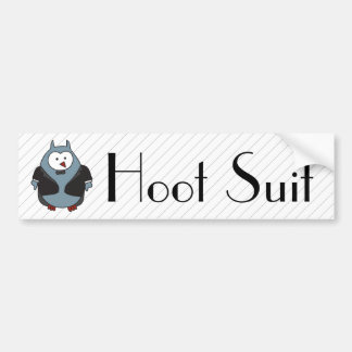 Hoot Suit Bumper Sticker
