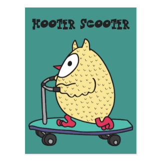 Hooter Scooter Postcard