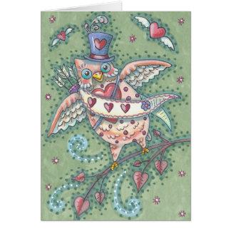 HOOTS N' HEARTS OWL NOTE CARD Blank