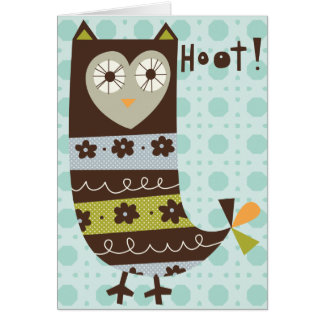 Hooty owl note card