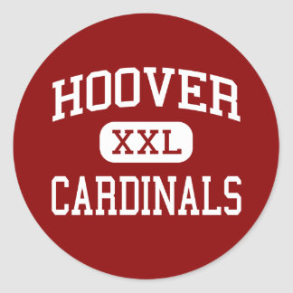 Hoover - Cardinals - High - San Diego California Classic Round Sticker