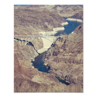 Hoover Dam Aerial Photographic Print