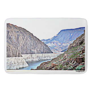 Hoover Dam/Colorado River Large Custom Bath Mat. Bath Mat