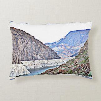 Hoover Dam/Colorado River Mountains Accent Pillow