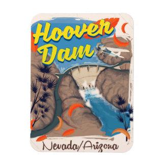 Hoover Dam Nevada/Arizona travel poster Magnet