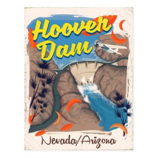 Hoover Dam Nevada/Arizona travel poster Postcard