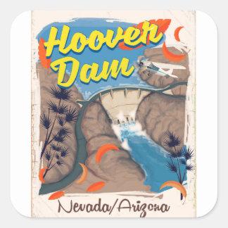Hoover Dam Nevada/Arizona travel poster Square Sticker