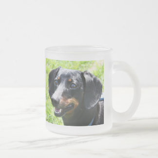 Hoover Wide Eyed Frosted Glass Coffee Mug
