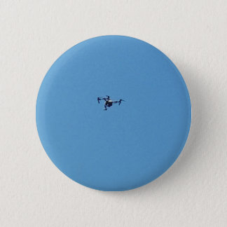Hoovering Drone Against Blue Sky Simplicity 2 Inch Round Button