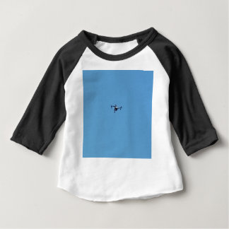 Hoovering Drone Against Blue Sky Simplicity Baby T-Shirt