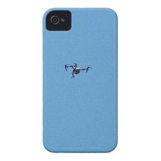 Hoovering Drone Against Blue Sky Simplicity iPhone 4 Cases