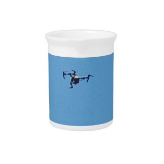 Hoovering Drone Against Blue Sky Simplicity Pitcher