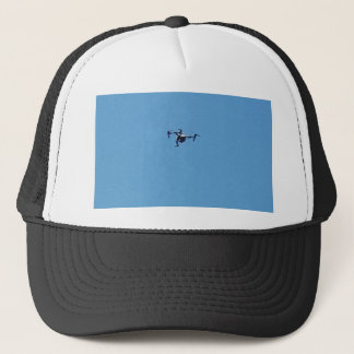 Hoovering Drone Against Blue Sky Simplicity Trucker Hat