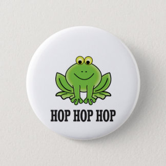 Hop hop hop frog 2 inch round button