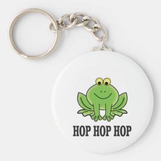 Hop hop hop frog basic round button keychain