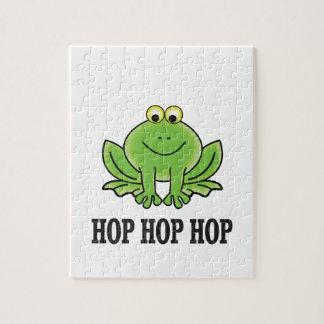 Hop hop hop frog jigsaw puzzle