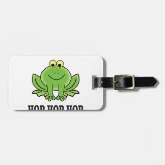 Hop hop hop frog luggage tag