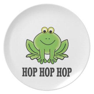 Hop hop hop frog plate