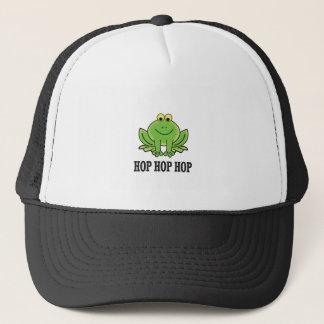 Hop hop hop frog trucker hat