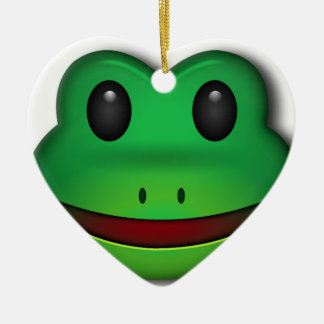 Hop on over to check out this Frog Design Ceramic Heart Ornament