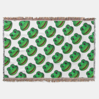Hop on over to check out this Frog Design Throw Blanket