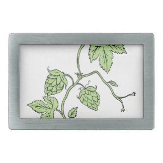 Hop Plant Climbing Drawing Belt Buckle