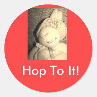 Hop To It! Round Sticker