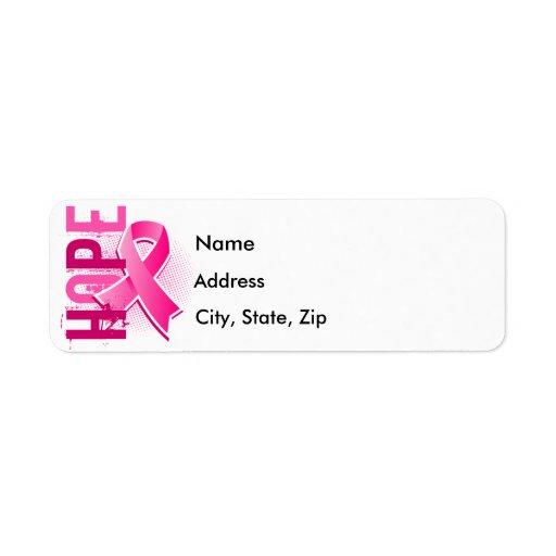 Hope 2 Breast Cancer Custom Return Address Label