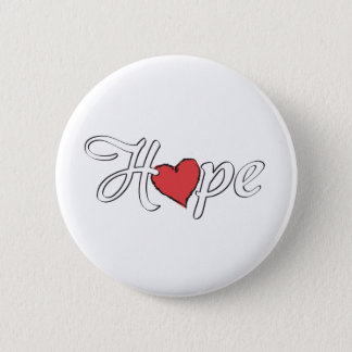 Hope 2 Inch Round Button