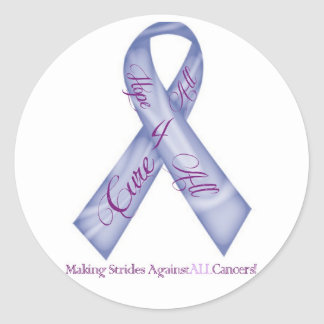 Hope 4 All, Cure 4 All Cancer Fundraising Products Classic Round Sticker