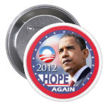 Hope Again / Obama 2012 3 Inch Round Button