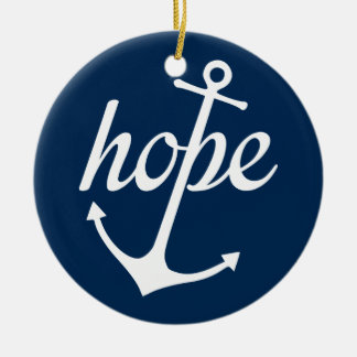 Hope Anchors The Soul (Hebrews 6:19) Round Ceramic Ornament