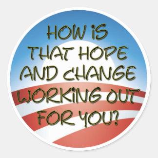 Hope and Change 2011? Round Sticker