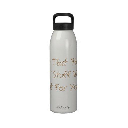 Hope and Change Bottle Water Bottle