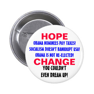 HOPE AND CHANGE PIN