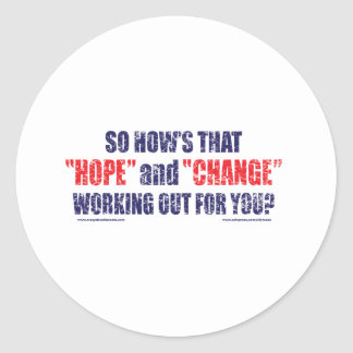 HOPE-and-Change-DST-TEE Round Sticker