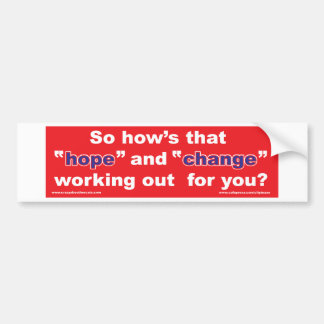 HOPE-and-Change-in-RED-2 Bumper Sticker