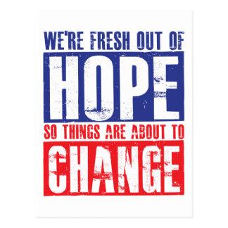 Hope and Change Postcard