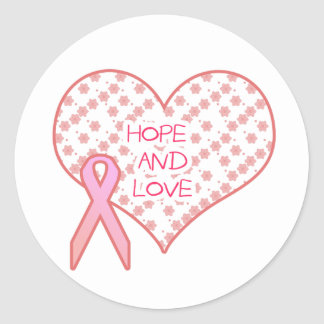 Hope and Love Classic Round Sticker