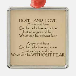 Hope And Love Poem unity peace kindness ornament