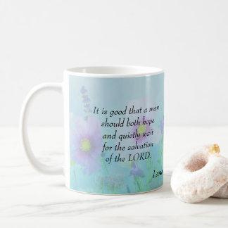 Hope and Wait Quietly - Lamentations 3:26 Coffee Mug