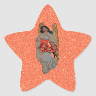 Hope Angel Outrageous Orange Snow Star Sticker